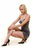 klänningdeltagaresilver royaltyfria foton