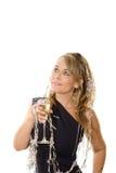 klänningdeltagarewine Fotografering för Bildbyråer