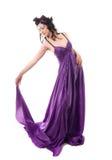 klänningen blommar kranen för flickanymphsilk Arkivfoton