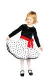 klänningflicka little ny stående royaltyfria foton