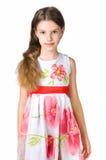 klänningflicka little som är röd fotografering för bildbyråer
