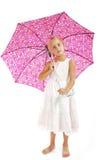 klänningflicka little som är vit Fotografering för Bildbyråer