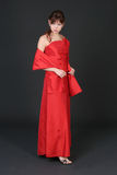 klänningflickared Royaltyfri Fotografi