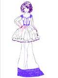 klänninginnegrejen skissar Royaltyfri Foto