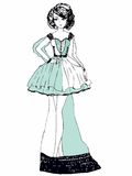 klänninginnegrejen skissar Fotografering för Bildbyråer
