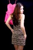 klänningkvinna Royaltyfria Bilder