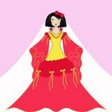 klänningkvinna Arkivfoton