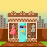 klänninglager Arkivfoto