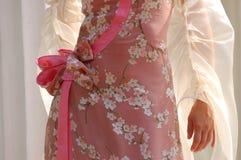 klänningmodekvinna Royaltyfria Bilder