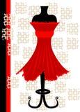 klänningred vektor illustrationer