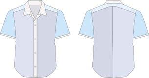 klänningskjorta för blå krage vektor illustrationer