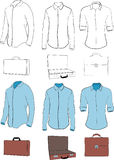 Klänningskjortor och kort fall royaltyfria bilder
