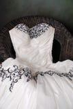 klänningstudiobröllop Arkivfoton