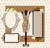 klänningtappning Arkivbild