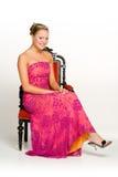 klänningtonåringtiara royaltyfri bild