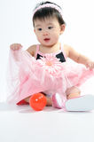 klänningungepink Royaltyfria Foton
