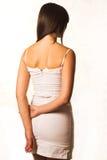 klänningwhite Royaltyfri Fotografi