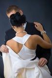 klänningwhitekvinna Royaltyfria Foton