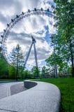 Klären Sie das London-Auge Stockfotos