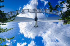 Klären Sie das London-Auge Stockfoto