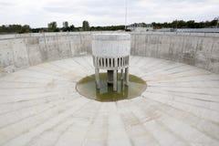 Klärwerks-Wasserbehälter leer Stockfotografie
