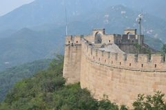Klättra den stora väggen av Kina Arkivbild