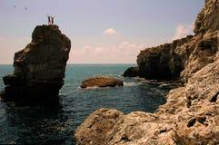 klättra djupt vatten Royaltyfri Fotografi