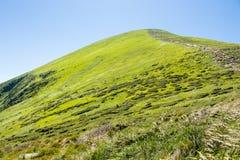 Klättra ett berg arkivfoton