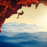 klättra extreme royaltyfria foton