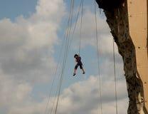 klättra fallande vägg ii arkivbild