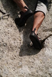 klättra fritt Royaltyfria Foton