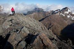 Klättra i berg Royaltyfri Foto