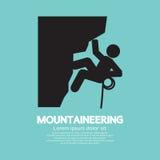 Klättra i berg grafiskt symbol Arkivbilder