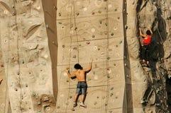 klättra I-väggen royaltyfri fotografi
