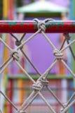 Klättra netto i lekplats Fotografering för Bildbyråer