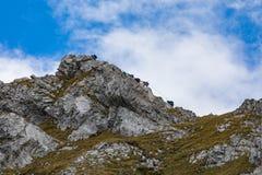 Klättra på monteringen Brunni på Engelberg i de schweiziska fjällängarna fotografering för bildbyråer