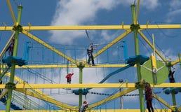 Klättra på repen Fotografering för Bildbyråer