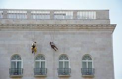 Klättra på väggen Royaltyfria Foton