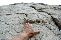 klättra till överkanten arkivfoto