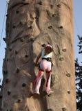 klättra till överkanten Arkivfoton