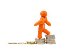 Klättra till den finansiella överkanten Fotografering för Bildbyråer