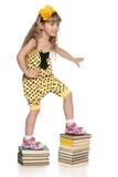 Klättra upp trappan av utbildning Arkivbild