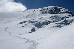 klättra vinter Royaltyfri Bild