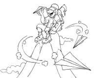 klättrareöverkant vektor illustrationer