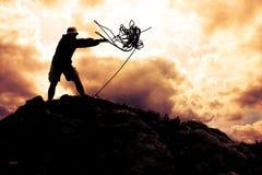 klättrareöverkant Arkivbilder