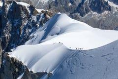 Klättrare i Mont Blanc Royaltyfri Bild
