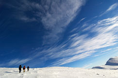 klättrare near toppmötet Fotografering för Bildbyråer