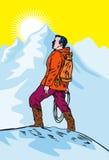 klättrareberg royaltyfri illustrationer