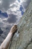 klättraren tecknar hand snabbt s Arkivbilder