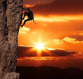 klättraresanset Royaltyfri Fotografi